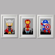 superhéroe dormitorio decoración de la pared por AmysSimpleDesigns