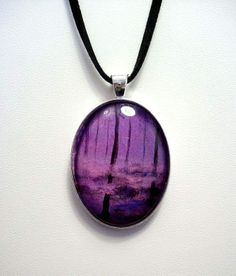 Unique Art Pendant with Faux Suede Cord - PP5