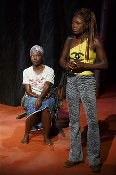 """Saycon Sengbloh and Akosua Busia - Don't Miss These First Shots of Lupita Nyong'o Making New York Stage Debut in """"Vitally Important"""" Story of Survival at the Public - Photo - Playbill.com"""