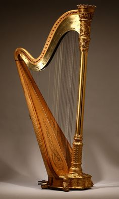 Lot# 1143 A Lyon & Healy Style 22 Gold semi-grand parcel-gilt maple 46 string harp. est: $4000/6000 *Price Realized: $11,500.00