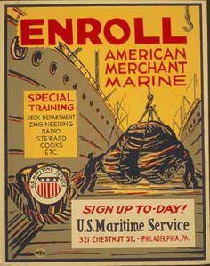 Enroll American Merchant Marine poster