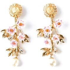 DOLCE & GABBANA embossed detail earrings ($1,275) ❤ liked on Polyvore featuring jewelry, earrings, accessories, pearl jewellery, pearl earrings, gold tone earrings, dolce gabbana jewelry and earrings jewelry