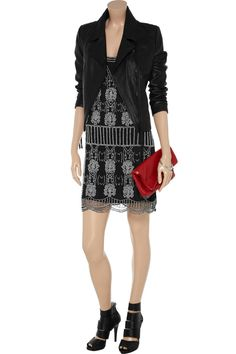 W118 by Walter Baker Monique beaded mesh dress - 61% Off Now at THE OUTNET