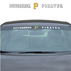 Pittsburgh Pirates Decal 35x4 Windshield