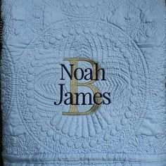Heirloom embroidered baby quilt keepsake sew pinterest monogrammed baby quilt personalized baby blanket personalized baby quilt monogrammed baby blanket new baby baby girl quilt blanket negle Image collections