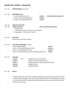 Practice Plan Hour  Example Jpg  SoftballBaseball