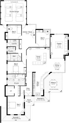 Single storey house plans perth the rosewood ross for Ross north home designs