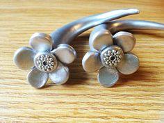 Polymer Clay Flower Daisy Gauges Stretchers Plugs 0g 00g 7/16 1/2 black silver copper. $23.99, via Etsy.