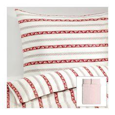 PÄRLHYACINT Duvet cover and pillowcase(s) - Full/Queen (Double/Queen)  - IKEA  Christmas linens.