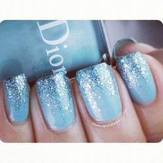 Disney Frozen Elsa inspired nails