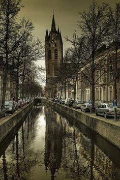 The Oude Kerk, Oude Jan, Delft, Netherlands by Hans Heintz