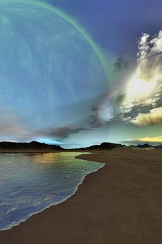 ✮ Beautiful skies shine down on this cosmic seascape by bitz