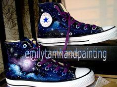 17d1327d82a7 Another galaxy design on Converse Sneakers by  Emilytamhandpainting.deviantart.com on @deviantART Converse