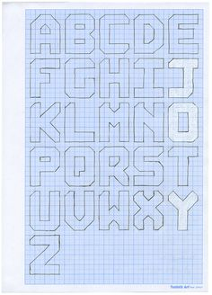 Max Fraser on organising his fantastic Joy of Living exhibition at Somerset House, which raised for Maggies Cancer Caring Centres. Graph Paper Drawings, Graph Paper Art, Lettering Tutorial, Lettering Design, Blackwork, Pixel Art, Cross Stitch Alphabet, Stained Glass Patterns, Word Art