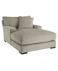 Billy double chaise lounge chair with wheels chaise for Big comfy chaise lounge