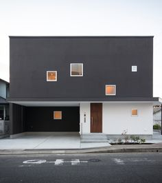 Minimalist House Design, Tiny House Design, Residential Architecture, Contemporary Architecture, Facade Design, Exterior Design, Small House Exteriors, Minimal Home, Box Houses