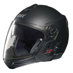 Grex J2 Pro - Kinetic Flat Black. Removable chin guard allows it to be approved as both a full-face and open-face helmet