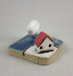 MyLand Cloud Tree Collectible 3x3 cm or 1.2x1.2 in. by elukka