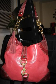 d724b2876f6f Coach Hampton Red Leather and Suede Hobo