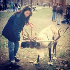 Taking a Reindeer for a walk in Madison Square Park in NYC was just another day at the office on FX's The Pet Department. #tbt #reindeer #NYC
