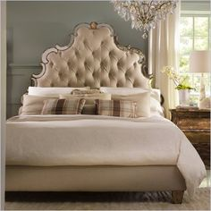Hooker Furniture Sanctuary Tufted Bed in Bling, $1,700
