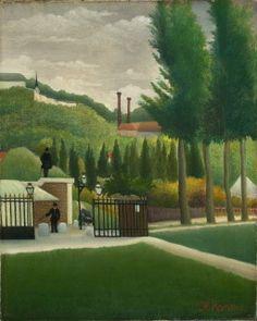 「税関」(Toll Gate)1890年  Oil on canvas  height: 40.6 cm (canvas); width: 32.75 cm (canvas); height: 57.7 cm (frame); width: 51.3 cm (frame) ; depth: 6.8 cm (frame)  コートールド美術館