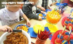 kid party food | LEGO Printables for a Kids Birthday Party - B-InspiredMama.com