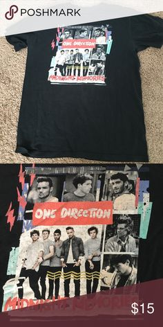 One Direction midnight memories T-shirt!❤️ in good use, barley has been worn! a great product for all 1D fans! if any questions feel free to ask❤️ Tops Tees - Short Sleeve