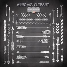 ❤ Vector Hand Drawn clipart arrows, arrows clipart, chalkboard clipart, Navaho clipart, arrows, Native American Style, arrow clipart ❤ INSTANT