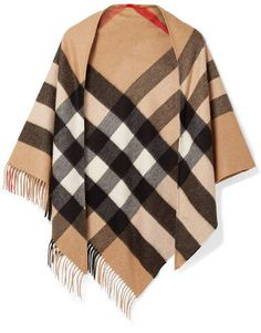 3a5dc708e9ffd Burberry - Fringed Checked Cashmere Scarf -  Camel#camelscarf#burberry#london#shopstyle