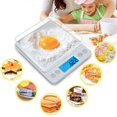 GASON 3kg Food Kitchen Scales Mini Pocket Portable Stainless Steel Electronic Digital Scale Kitchen Precision Jewelry 3000gx0.1g breakfast ~ Click the VISIT button to view the details on  AliExpress.com. #KitchenMeasuringTools
