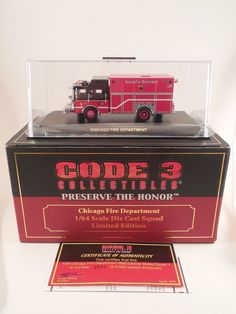 Code 3 Preserve the Honor Chicago Fire Department 1/64 Scale Die Cast Squad 1 #Code3Collectibles