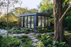 "Just in from Canadian photographer Brenda Liu, this beautiful garden pavilion she shot for Toronto based Shawn Freeman Architect. ""This pavilion is designed as a three-season living room from which to"