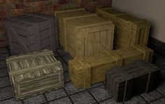 Pick of the day: Wood Cargo Boxes Set V2 - #W3DC