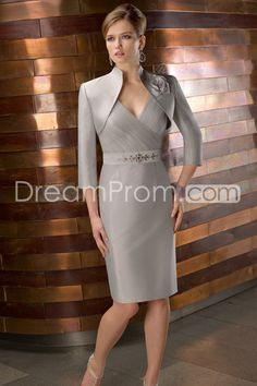 Sheath/Column 2014 Collection V Neck Mother Of The Bride Dresses Under 200