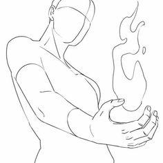 Bola de fogo na mão