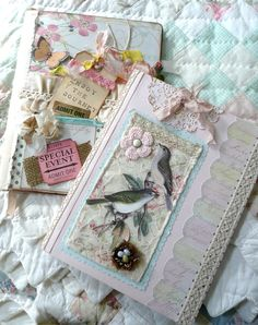 "** Altered Composition Book ""Shabby Chic Style""  @jeannes1234"