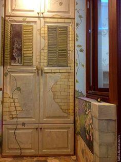 Купить Роспись стен и шкафа Черный кот - роспись стен, роспись стены