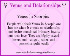 ~Venus in Relationships~ # Venus in Scorpio #Astrology