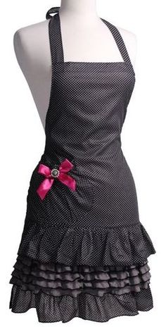 Amazon.com - Flirty Aprons Women's Marilyn, Sugar n' Spice - Kitchen Aprons