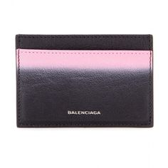 Balenciaga Leather Card Holder ($235) ❤ liked on Polyvore featuring bags, wallets, clutches, handbags, black, wallets & cases, balenciaga, leather bags, balenciaga bag and genuine leather wallet