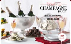 Champagne Party Ideas and recipies
