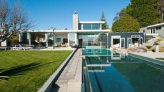 Modern Main Pool on ArchiPro Modern Pools, Lego Architecture, Pool Designs, Pavilion, Landscape Design, Maine, Real Estate, Patio, Mansions