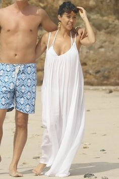 Kourtney Kardashian in the brand new 9 Seed Tulum Maxi, now in store in black and white!