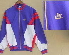 vintage de los años 90 NIKE entrenamiento chaqueta talla M colorblock hiphop chaqueta chaqueta nike Sport vestir Street Wear