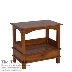 Indonesia skilled craftsmen produce minimalist teak side table at affordable price. Teak table furniture with traditional construction by Jepara Goods Indonesia Woodworking Studio.