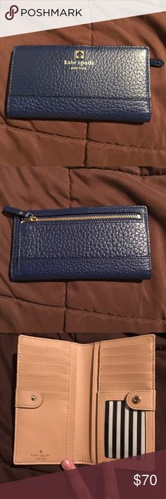 Kate Spade Cedar Wallet • brand new without tags • Never used, just stored • blue • prices are firm • no trades  • low ball and get blocked kate spade Bags Wallets
