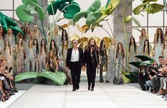 A giant jungle paradise was the choice of Roberto Cavalli to present his Spring/Summer collection