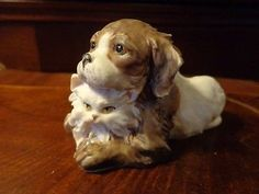 GIUSEPPE ARMANI Capodimonte Figure Figurine dog with cat