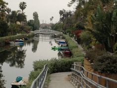 Venice Canals not far from Santa Monica are romantic, peaceful and wonderful for getting outdoor living ideas: it's all so open!
